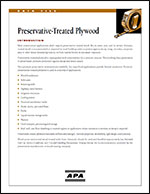 Preservative-Treated Plywood Product Guide, APA Form G220