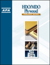 Product Guide: HDO/MDO Plywood - Describes High Density Overlay and Medium Density Overlay plywood applications, properties and characteristics. Open to read more.