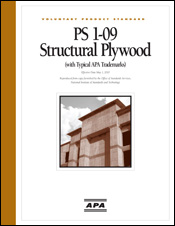 APA Publications - Voluntary Product Standard, PS 1-09, Structural Plywood