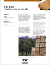 APA Publication: A Test of Time - Plywood Harvest Bins span three decades in use
