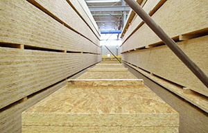 Engineered wood products for concrete forms