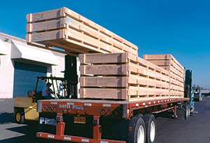 Engineered wood boxes and crates