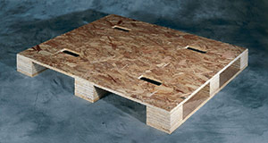 OSB pallet with full four-way entry