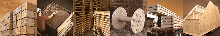 Plywood and OSB panels for materials handling applications