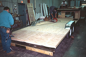 Plywood RV floor