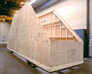 Plywood shipping container
