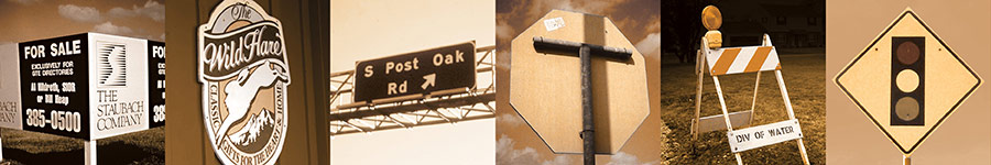 Plywood signs