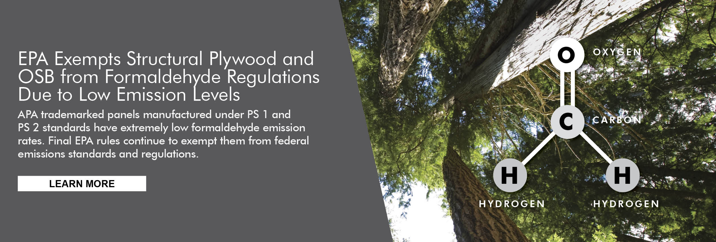 Structural plywood and oriented strand board (OSB) are exempt from EPA regs